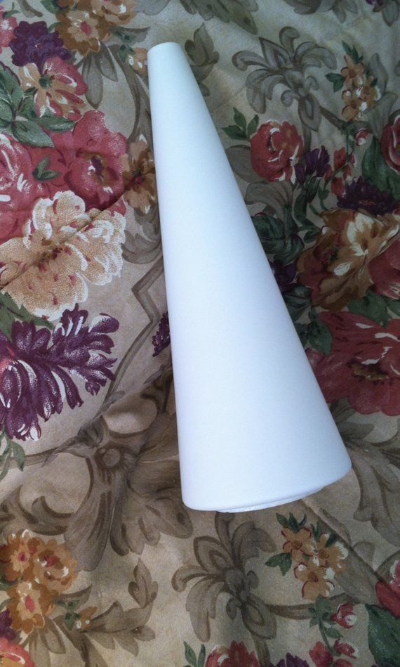 Rare Cone Shaped Gl Shade 3 1 4 Inch Er Size Lamp White Frosted Lam