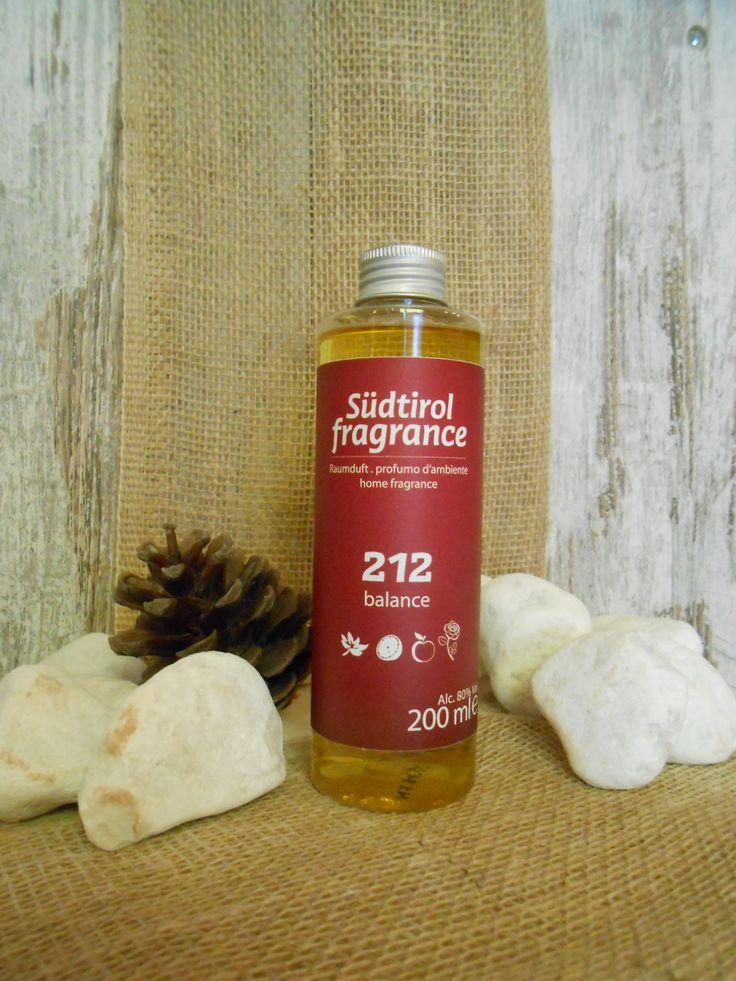RICARICA PER DIFFUSORE AMBIENTE http://www.wellteca.it/wp/prodotto/ricarica-diffusore-ambiente-sudtirol-fragrance-212-balance-200ml/