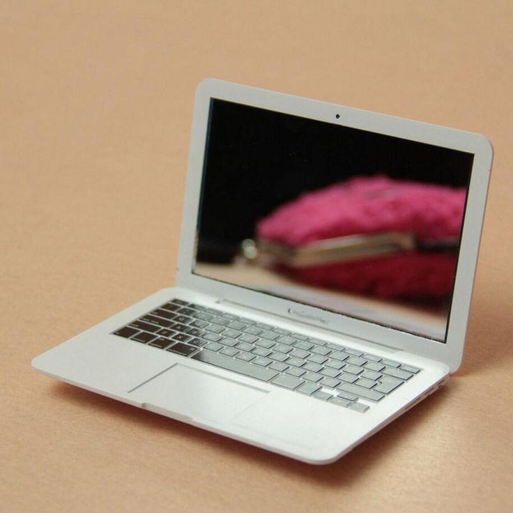 1pcs Portable Apple Notebook style Creative Make Up Mirror (B112)