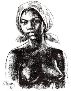 Dandara was an Afro-Brazilian Woman, Warrior who lived in the 1600s. She was co-founder of Palmares, a run-away slave community (quilombo) that thrived for almost a century. Bravely she fought alongside Zumbi and others defending the freedom of her people and her community. Palmares was eventually overthrown by Dutch and Portuguese colonizers, but rather than return to slavery, Dandara took her own life as an act of resistance.