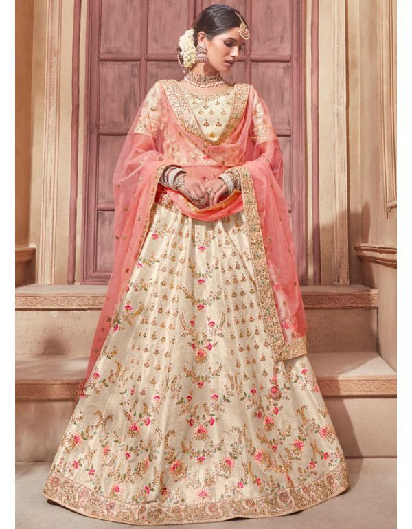 d24bc8e06 Bisque Cream Designer Bridal Lehenga Choli