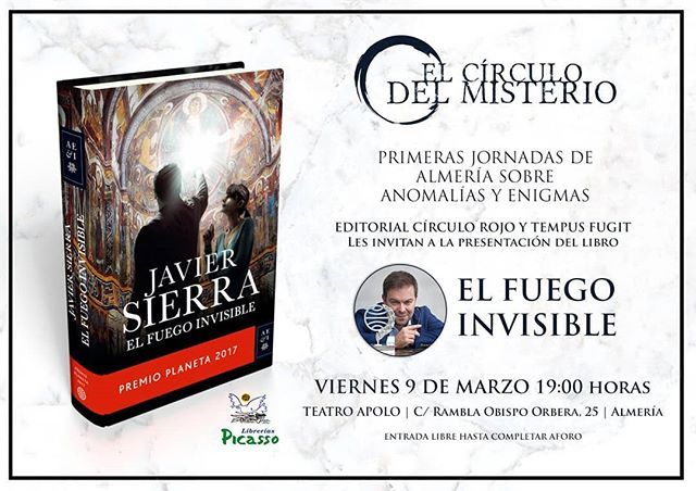 La gira del #PremioPlaneta que empezó en noviembre 2017 sigue en marcha! Este viernes llega a #Almería. Teatro Apolo 19h. Entrada libre. Te espero con #ElFuegoInvisible