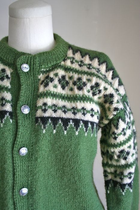 vintage 60s wool sweater LULLE OTTERSTAD nordic by MsTips on Etsy