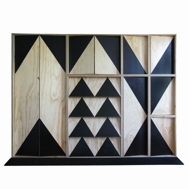 // Boxer - Large Cabinet: Paintings Furniture, Design Ideas, Wood Design, Cabinets Storage, Boho Aztec, Boxers, Studios Mattermad, Large Cabinets Design Studios, Cabinets Doors