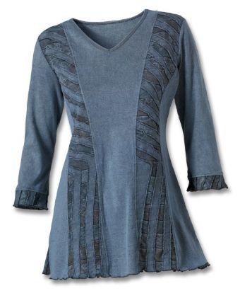 denim cutwork tunic southwest indian foundation 8197