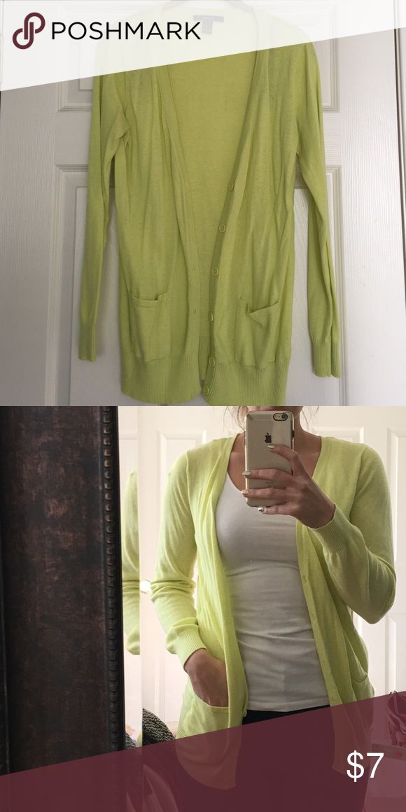 Neon Green/Yellow Cardigan Neon Green/Yellow Button Up Cardigan ...