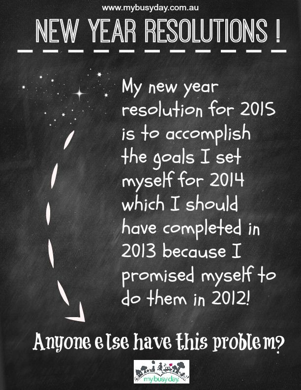 Too many good intentions! That's my problem! My new resolution is to choose 1 resolution and keep at it!