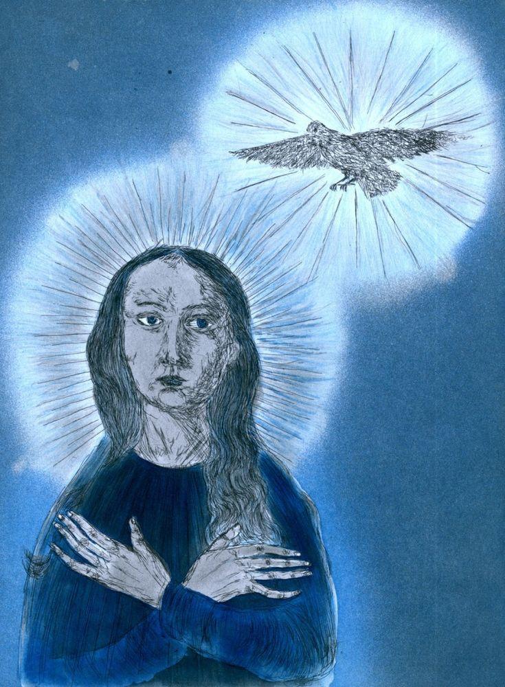 Kiki Smith: Virgin With Dove, 1999 | Pace Prints