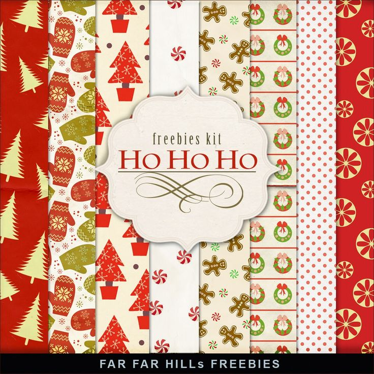 FREE New Freebies Winter Backgrounds - Ho Ho Ho:Far Far Hill - Free database of digital illustrations and papers