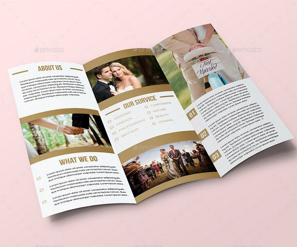Best Folleto Images On Pinterest Brochures Advertising And - Wedding brochures templates free