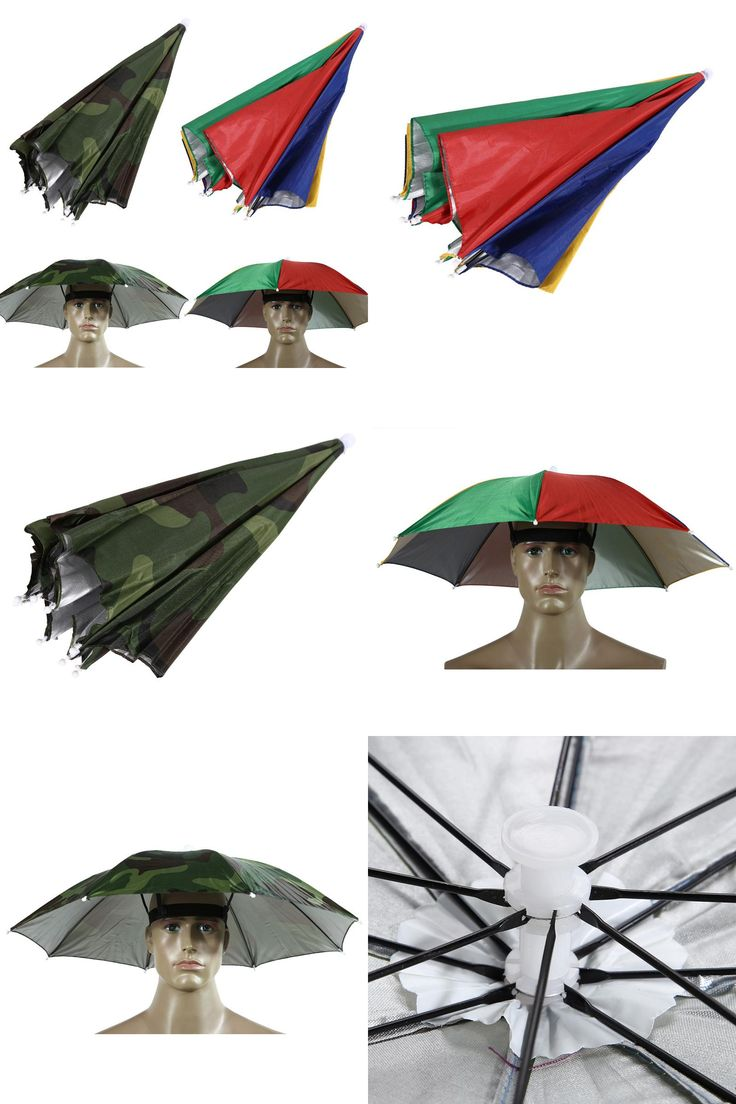 [Visit to Buy] Outdoor Umbrella Hat Lightweight Cap Sun Shade Camping Fishing Hiking Festivals Outdoor Brolly Umbrella UV Protection #Advertisement