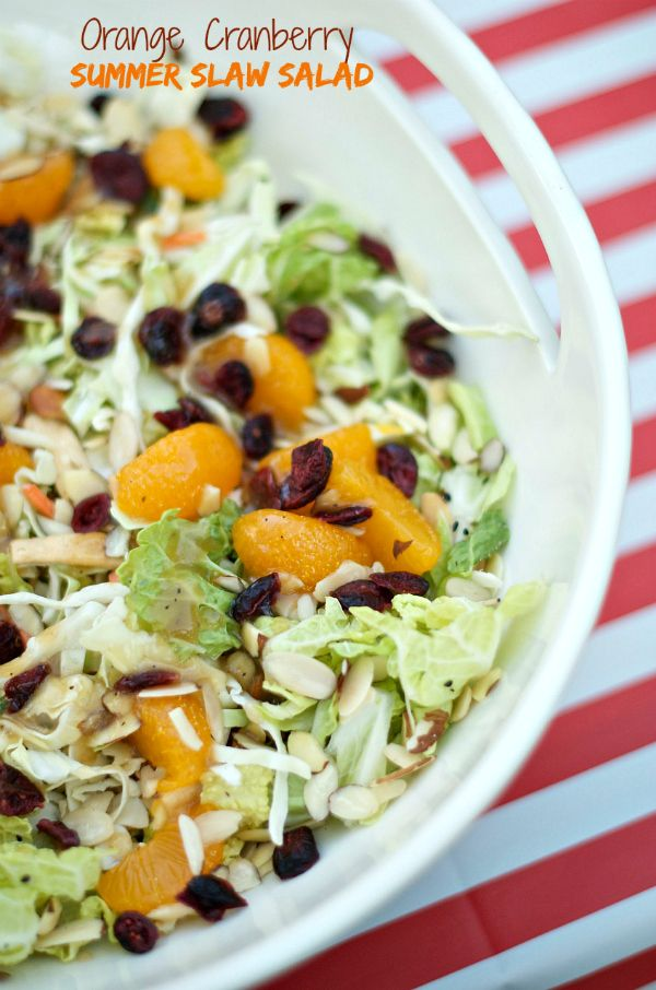 A Casual Dinner with Orange Cranberry Summer Slaw Salad