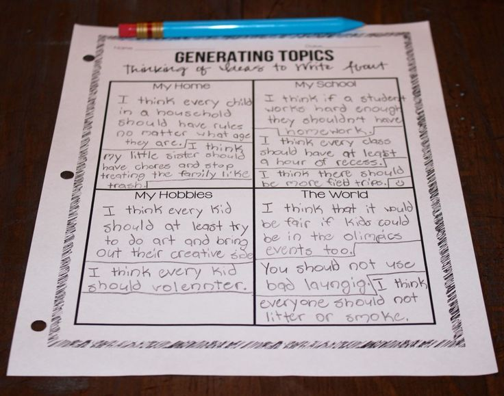 Topics for opinion essays