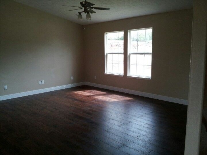 Dark Wood Floors With Light Beige Walls