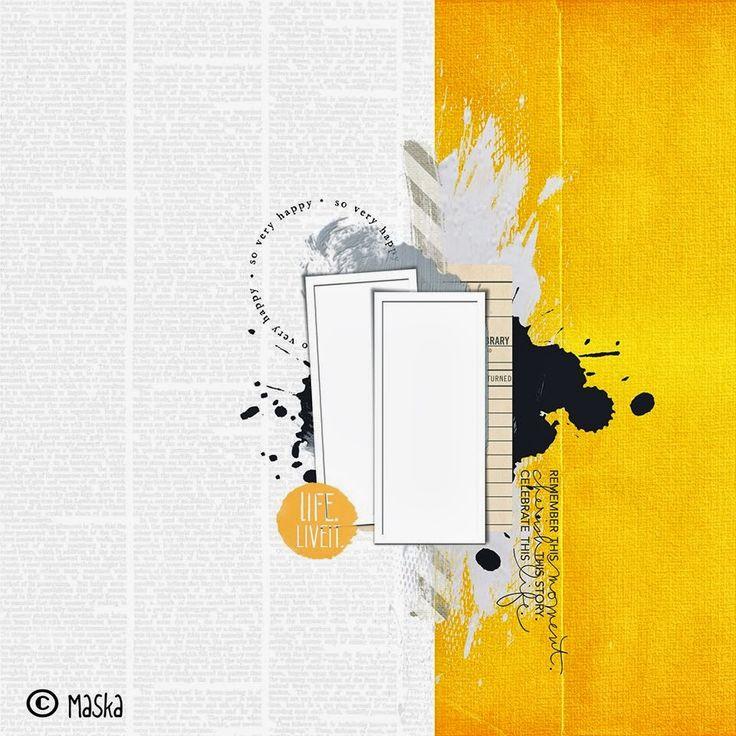 SCRAP KITS & CO: Challenge d'octobre pour SKC - Un sketch de Maska.