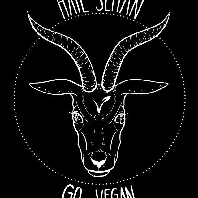 Available on tshirts, phone cases and more on my redbubble! You can find the link in my bio  #art #artist #artistsoninstagram #artstagram #lineart #tattoo #tattoodesign #comicartist  #portrait #ipad #ipadpro #ipadproart #applepencil #digitalart #digitalpainting #procreate #witch #goat #vegan #govegan #hailsatan #hailseitan #baphomet #satanism #satan #blackmetal #metal #goth #againstanimalabuse #veganism