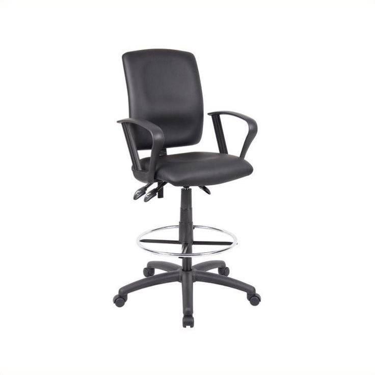 Boss office multi function leather drafting chair with