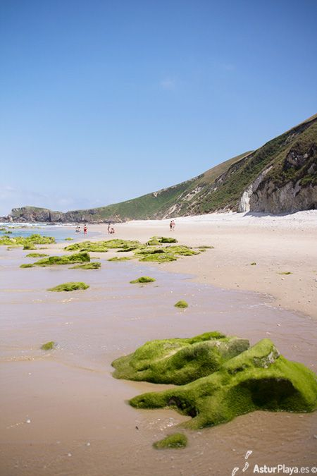 Eastern side of the San Antolín beach in Asturias, Spain.