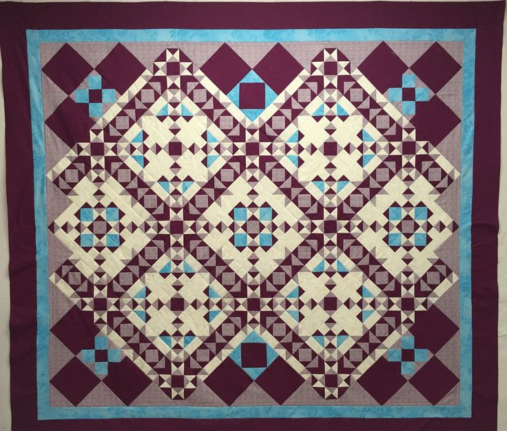 "This quilt is 71""x80"" and is made by me.  It was a mystery quilt designed by Jessica Caldwell."