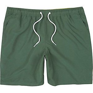 Short de bain vert kaki avec cordon