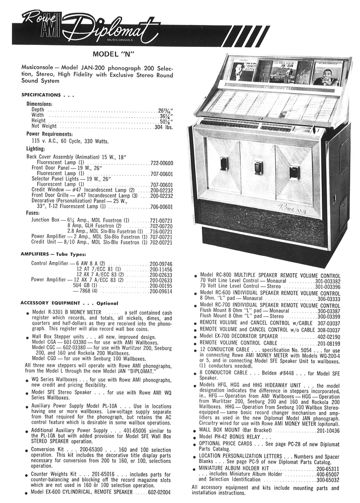 Ami Jukeboxes The 1960s