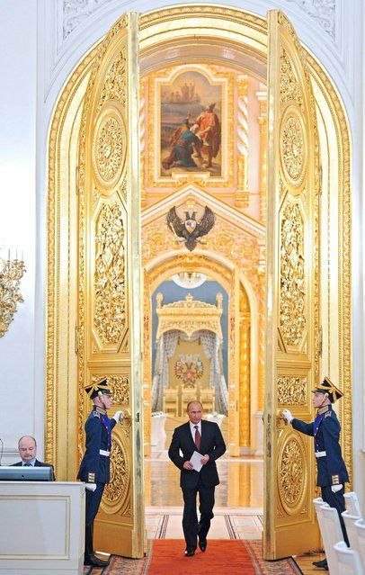 Russian President Vladimir Putin enters a hall to attend a State Council meeting in the Kremlin in Moscow, Friday, May 31, 2013. (Photo by Mikhail Klimentyev/AP Photo/RIA-Novosti/Presidential Press Service) http://avaxnews.net/fact/The_Week_in_Pictures_May_26-May_31_2013.html