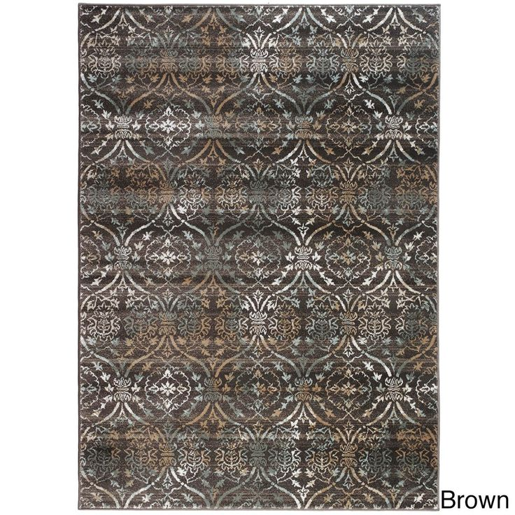 "Admire Home Living Plaza Brazil Area Rug (5'3 x 7'3) (Brown 5'3 X 7'3), Size 5'3"" x 7'3"" (Olefin, Abstract)"