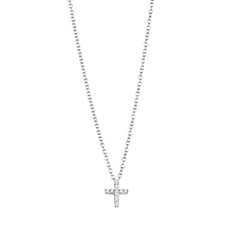 Jan Logan 18ct diamond mini Cross pendant