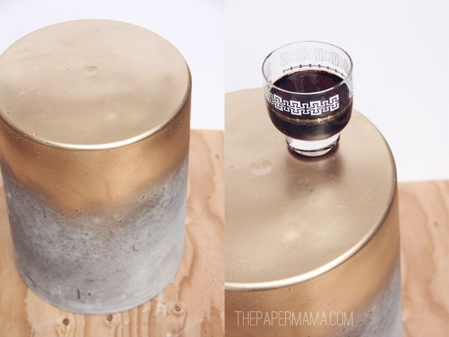 DIY-ify: Outdoor Concrete Table/Stool for under $15 You can also use textured paint on plastic paint drums they also make nice side tables