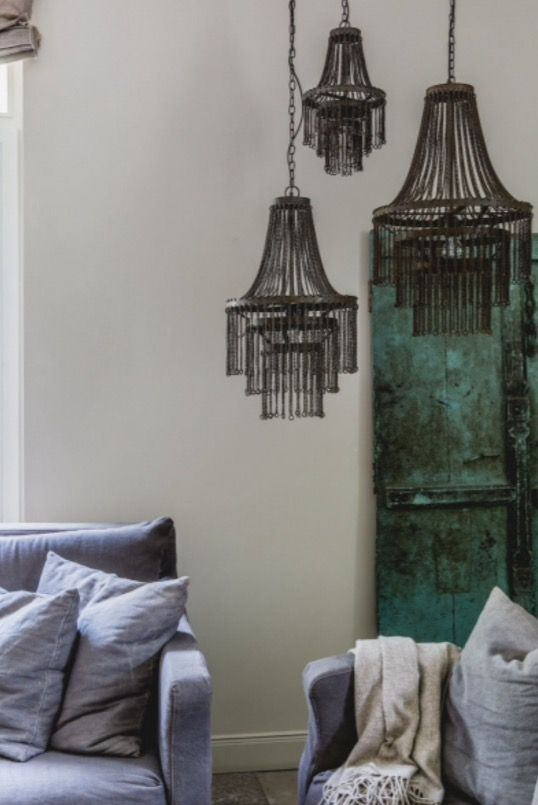 """These solid iron chandeliers are from our feature """"Grand Appearance"""""""