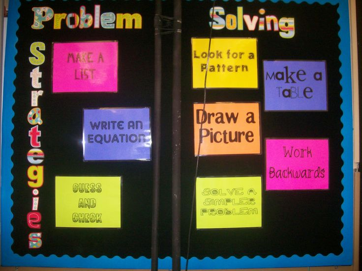 middle school Math Bulletin Boards | We'll briefly discuss what problem solving is and look at the posted ...