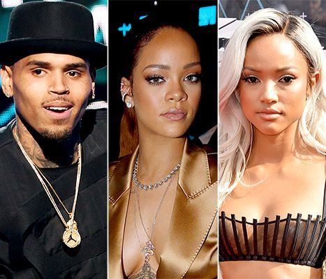 Chris Brown, Exes Rihanna and Karrueche Tran Attend BET Awards 2015 - Us Weekly