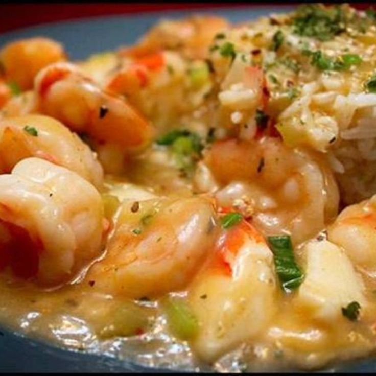 SHRIMP AND CRABMEAT WITH RICE