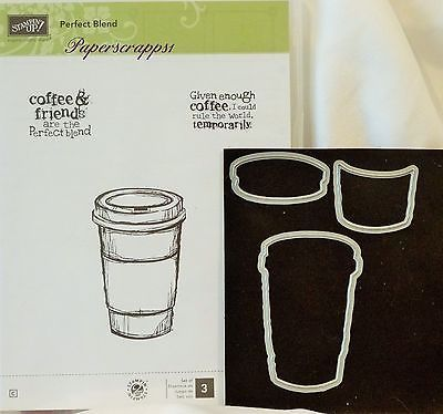 Stampin Up PERFECT BLEND clear mount stamps and Matching Dies by Dave NEW coffee