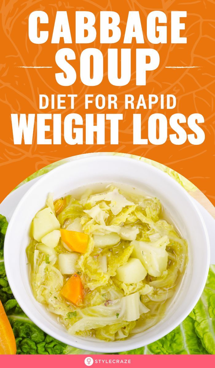 rapid weight loss cabbage soup diet