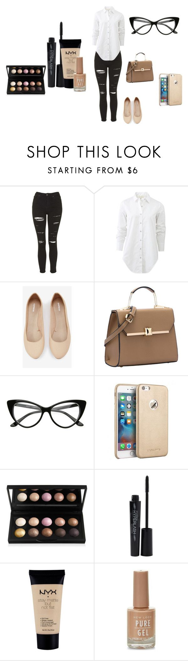 """""""Cute look"""" by daniellepearce13 on Polyvore featuring Topshop, rag & bone, Express, Smashbox, NYX, women's clothing, women's fashion, women, female and woman"""