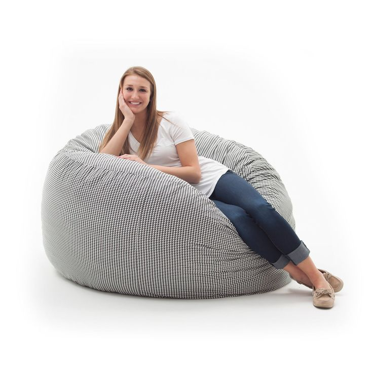 Spend Hours Relaxing In This Comfortable And Durable FufSack Memory Foam Lounge Bean Bag Chair
