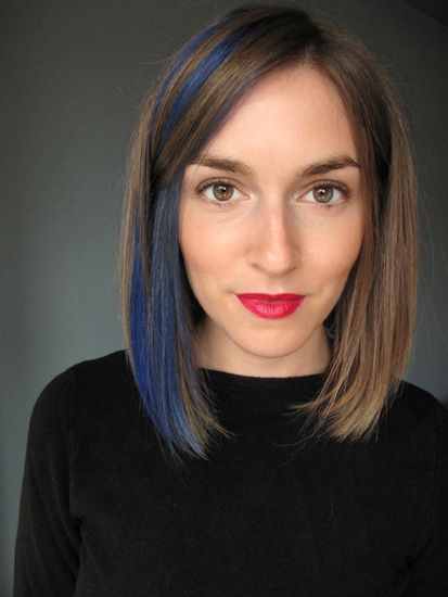 LOVE the blue highlights. Totally doing this with temporary color!