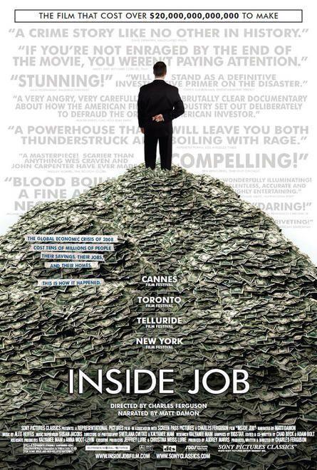 Documental no sólo sobre las causas, sino también sobre los responsables de la crisis económica mundial de 2008.