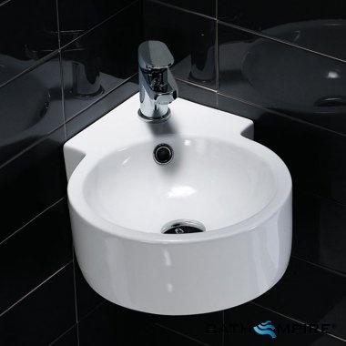 Small Cloakroom Corner Basin | Wash Basin Carat | BathEmpire