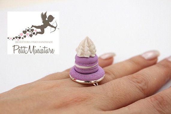 Miniatura Macaron Anello menta pastello rosa di PetitMiniatures