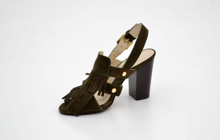 Sandale damă elegante verzi din piele naturală - Femei / Sandale elegante - GiAnni