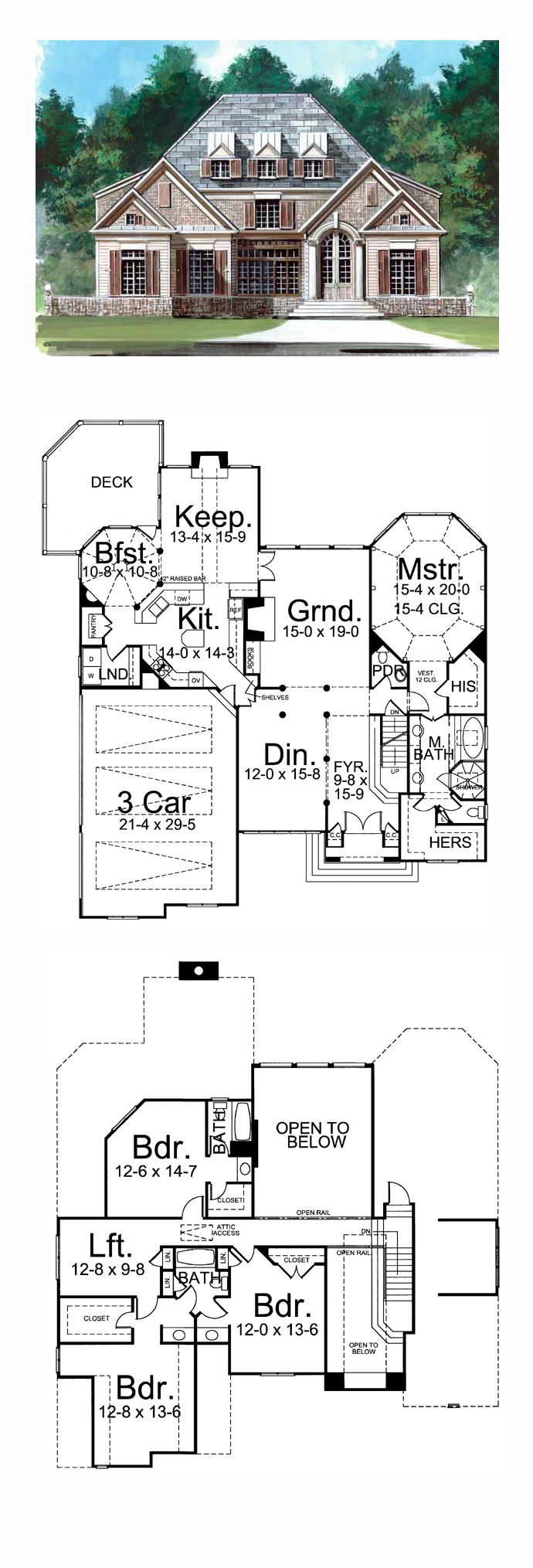 Greek House Plan 72054   Total Living Area: 3258 sq. ft., 4 bedrooms and 3 bathrooms. #greekrevivalhome