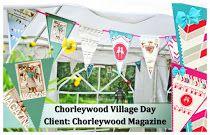 Bespoke Bunting for Chorleywood Magazine