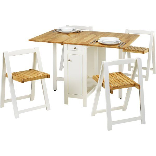 Alfreda Folding Dining Set With 4 Chairs Space Saver Dining Table Space Saving Dining Table Folding Dining Table