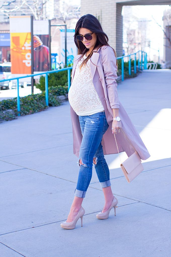 Conceal Your Baby Bump With These Flattering Style Tips Pregnancy Skinny Jeans And Skinny