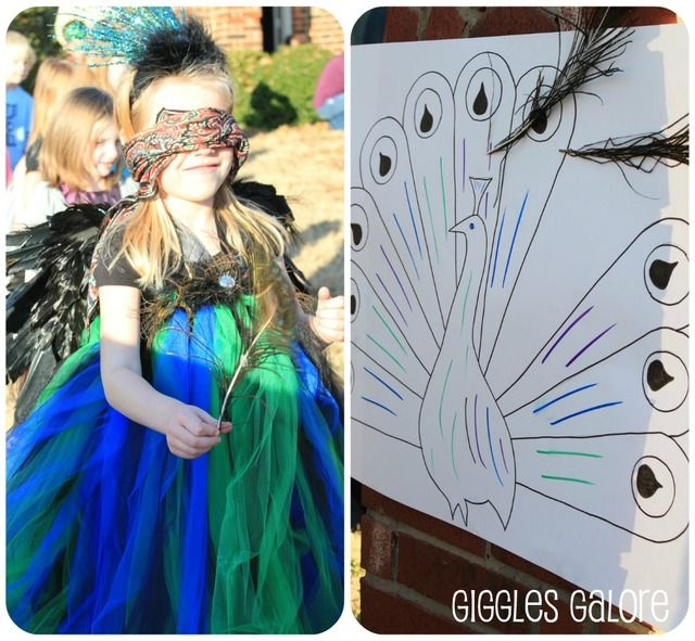 Pin the Feather on the Peacock!   Peacock / Birthday Peacock Princess | Catch My Party