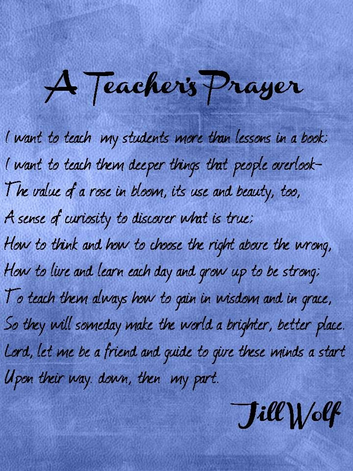 Enjoy Teaching English: A Teacher's Prayer