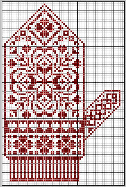 Nordic glove freebie. Can be used for cross stitch.