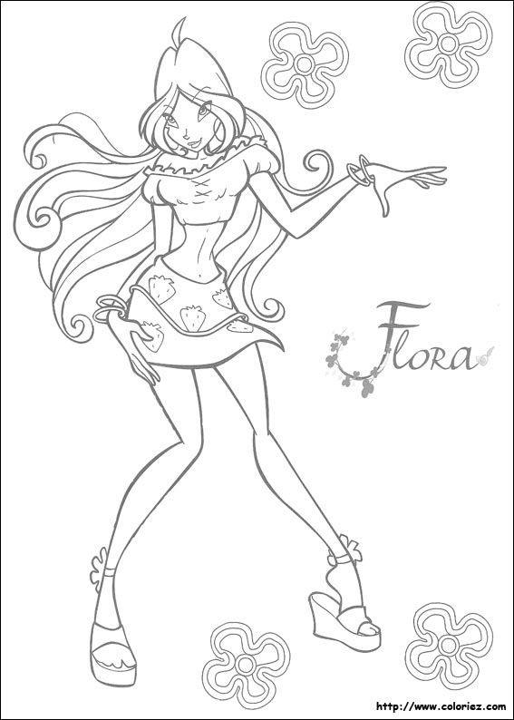 coloriage winx ms